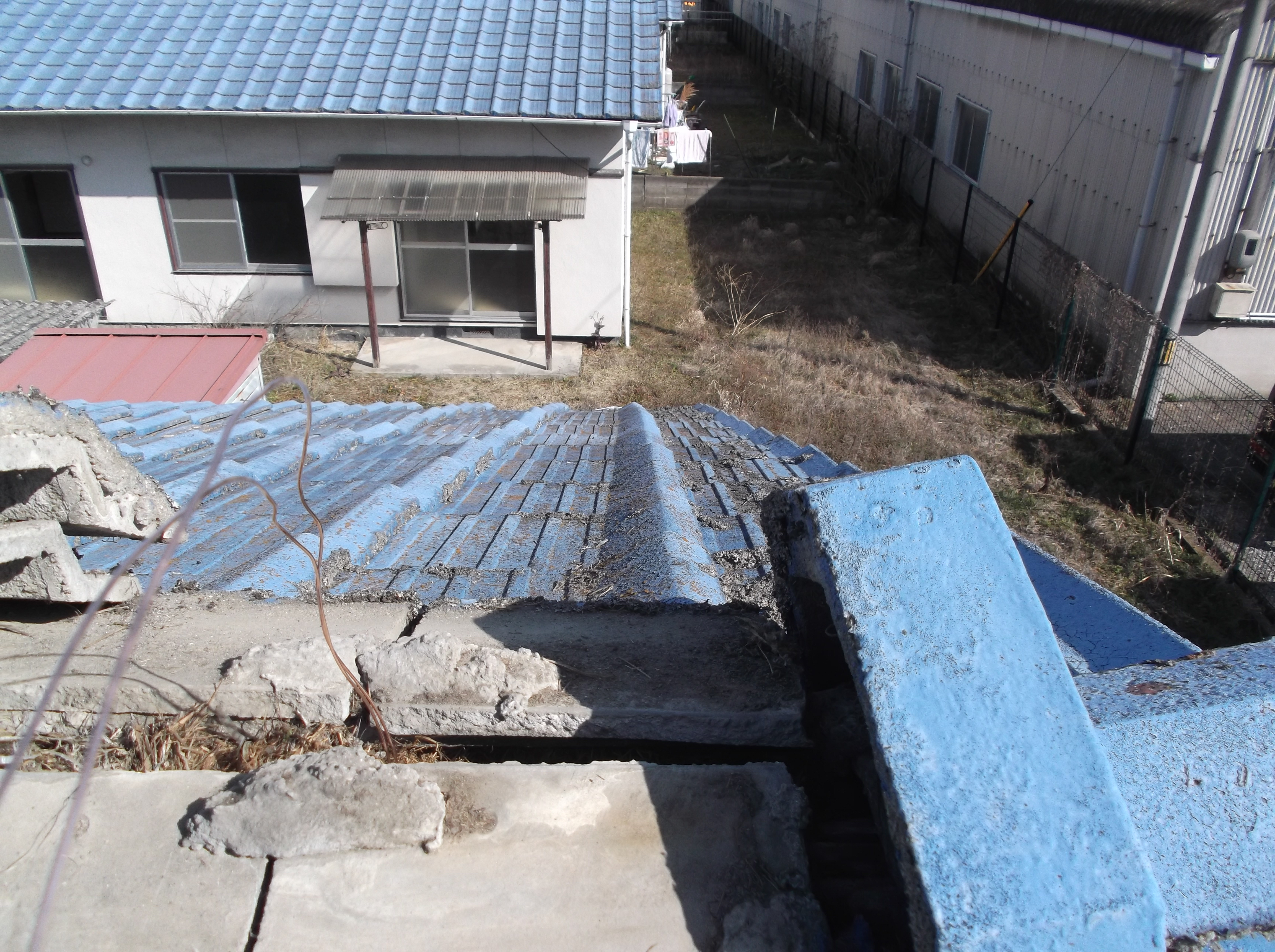 屋根工事 雨漏り修理 棟修理 岡山