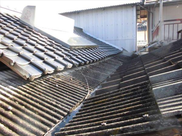 岡山県赤磐市で屋根工事 板金工事 谷板金