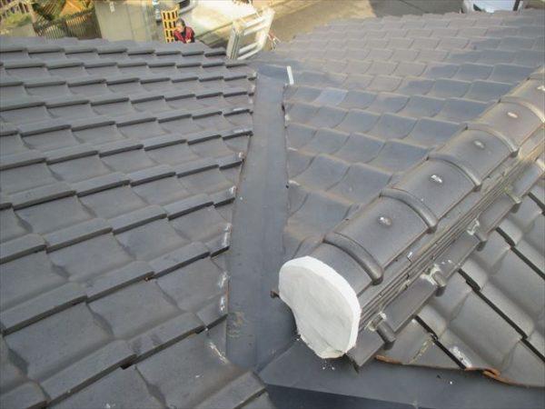 岡山市南区 屋根工事 屋根修理 谷板金取り替え 完成