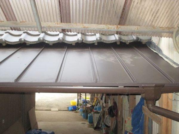 岡山県赤磐市で屋根工事 板金工事 ガルバリウム鋼板