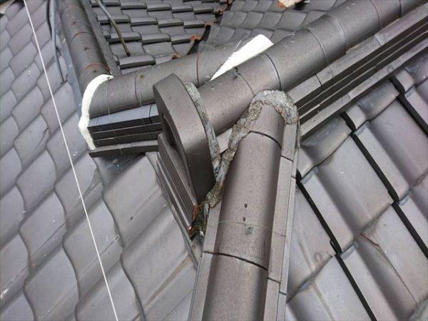 岡山県津山市 屋根工事 雨漏り修理 鬼首漆喰