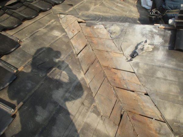 岡山県吉備中央町 雨漏り修理 防水紙施工不良