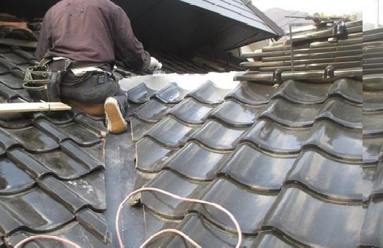 岡山県吉備中央町 屋根雨漏り修理 棟復旧