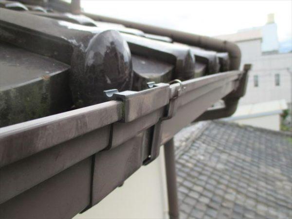 岡山県倉敷市で屋根工事 雨漏り修理 雨どい修理 修理完了