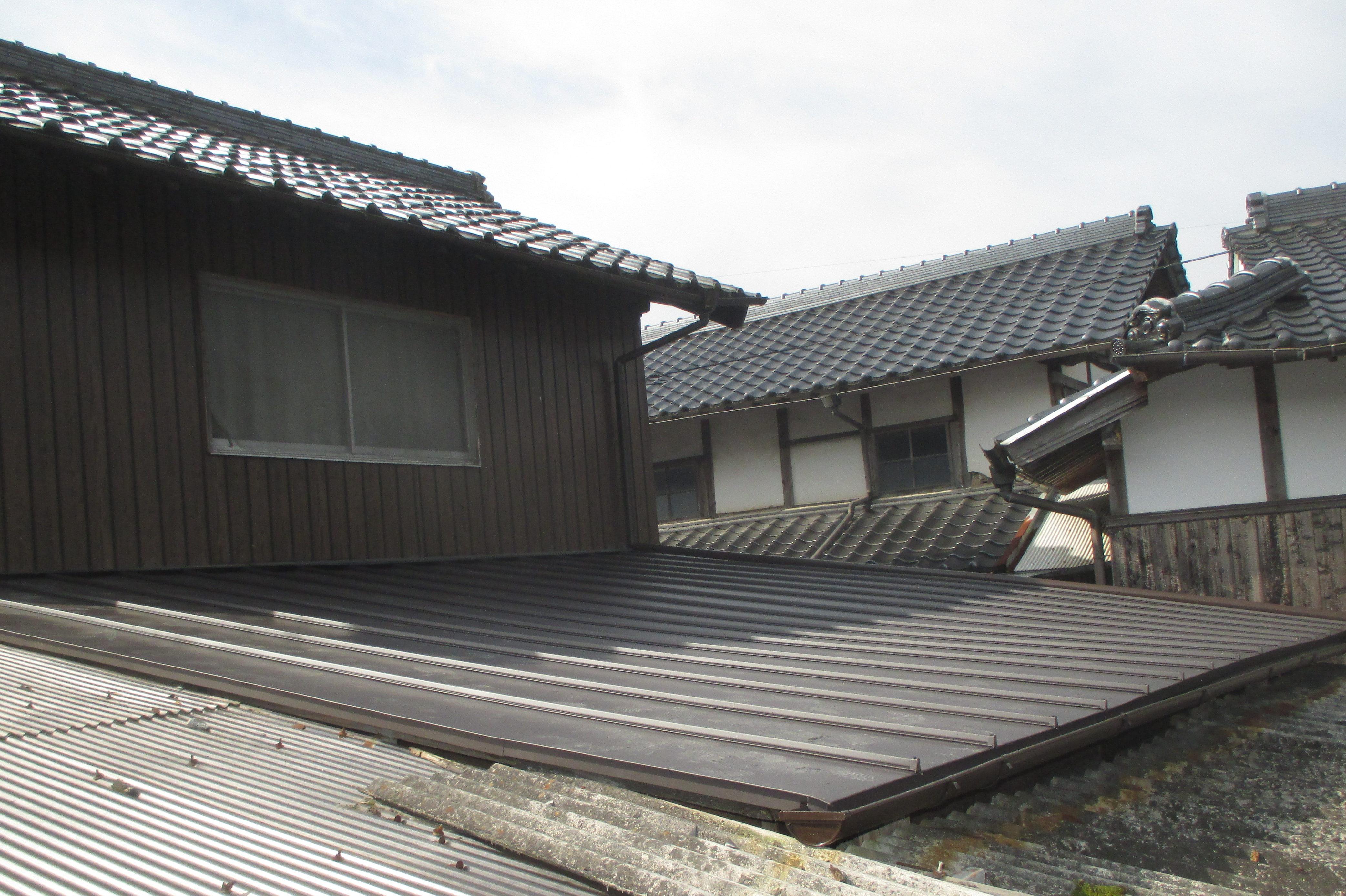 屋根工事 板金屋根 岡山