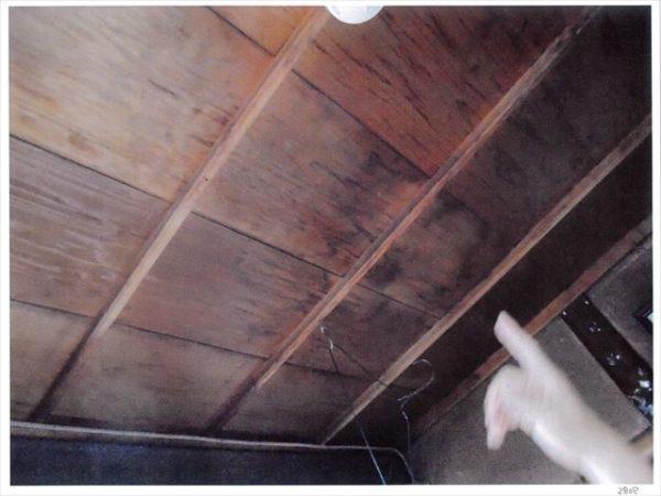 岡山市北区 雨漏り修理 天井から雨水が 天井にシミが