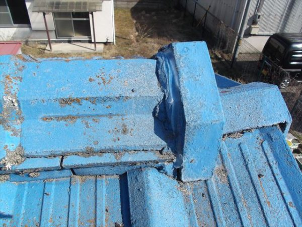 岡山市南区で屋根工事 雨漏り修理 棟瓦補修