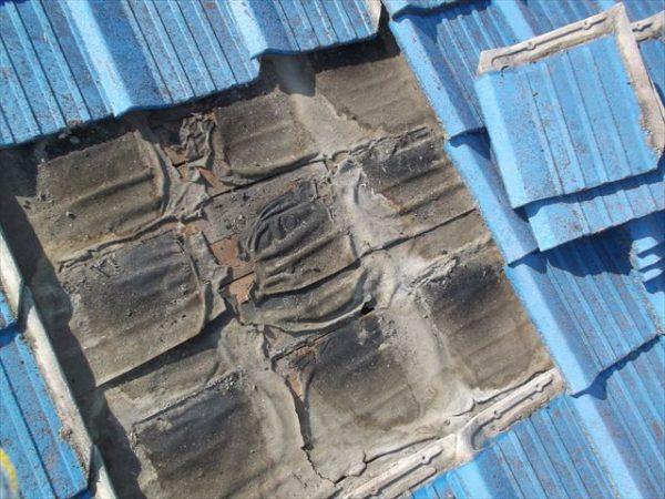 岡山市南区で屋根工事 雨漏り修理 下地防水紙劣化