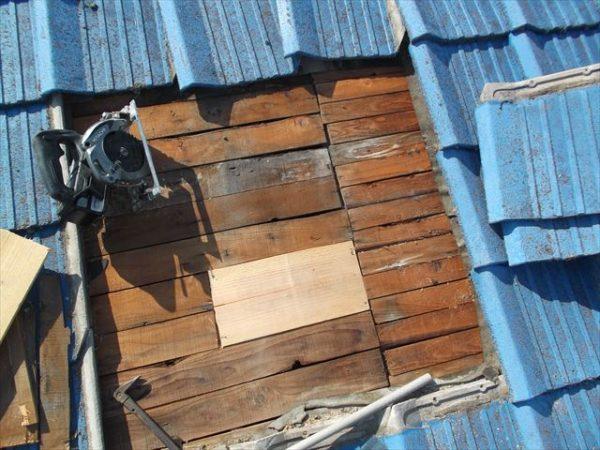 岡山市南区で屋根工事 雨漏り修理 下地補修