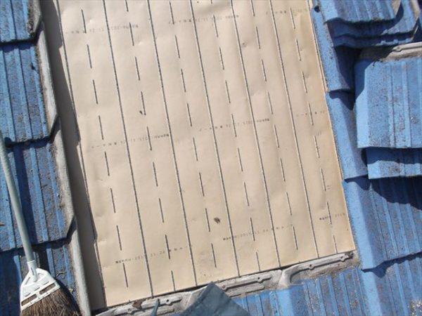 岡山市南区で屋根工事 雨漏り修理 下地防水紙 東和ルーフ