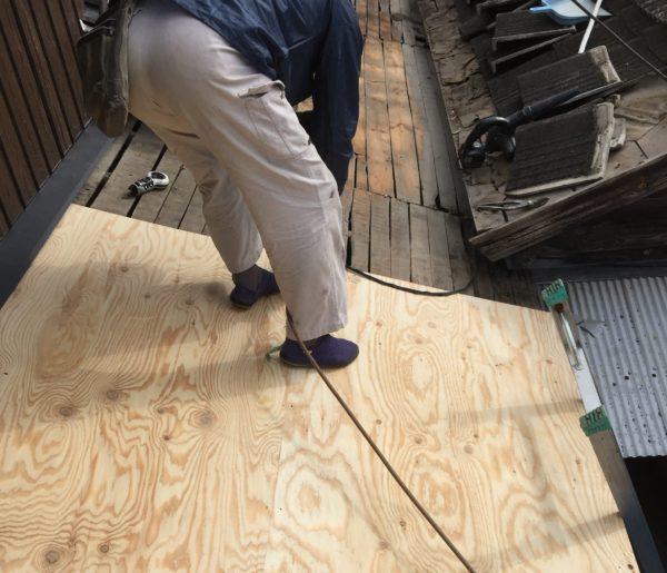 岡山県赤磐市で屋根工事 板金工事 下地補強
