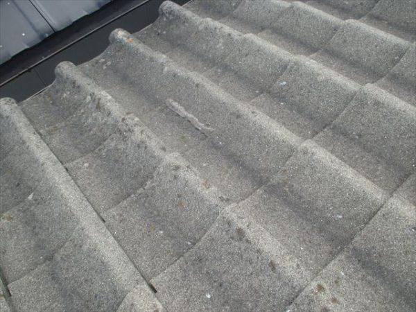 岡山市南区 屋根工事 雨漏り点検 割れ瓦