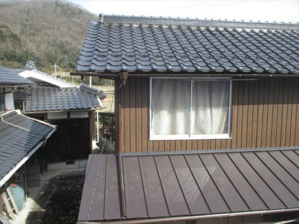 岡山県赤磐市で屋根工事 板金工事 雨どい取り換え