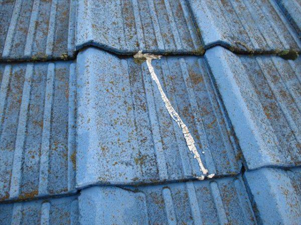 岡山市南区で屋根工事 雨漏り修理 割れ瓦