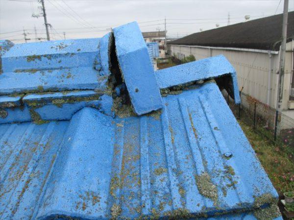 岡山市南区で屋根工事 雨漏り修理 鬼瓦ズレ