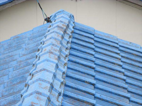 岡山市南区で屋根工事 雨漏り修理 棟瓦ズレ