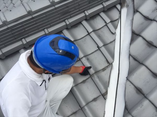 岡山県玉野市 雨漏り修理 瓦修理