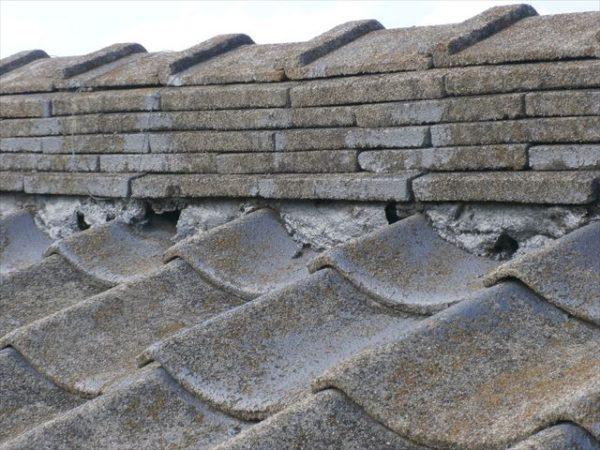 雨漏り修理 屋根瓦葺き替え 漆喰欠落