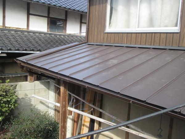 屋根工事 板金屋根 雨どい取り換え 岡山県赤磐市 N様邸