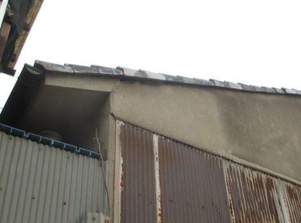 岡山市中区 屋根瓦ケラバ部分の割れ瓦差し替え工事