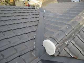 岡山市南区で屋根工事 雨漏り修理、谷板金取り替えO様邸